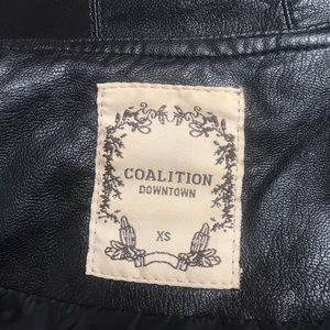Downtown Coalition Jackets & Coats - Downtown Coalition Faux Leather Jacket
